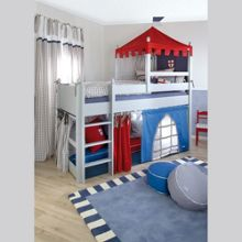 The Baby Cot Shop Knights Castle Mid Sleeper Bed