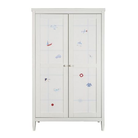 The Baby Cot Shop Motif Boys Hand Painted Wardrobe
