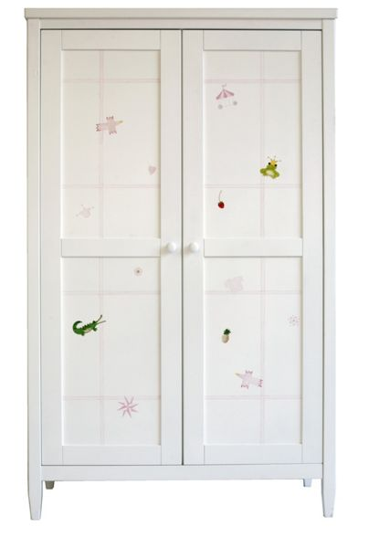 The Baby Cot Shop Motif Girls Hand Painted Wardrobe