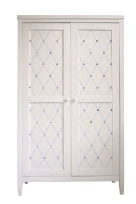 The Baby Cot Shop Blue Lattice Wardrobe
