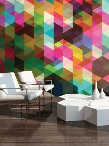 Graham & Brown Colourful Geometric Pattern Wall Mural