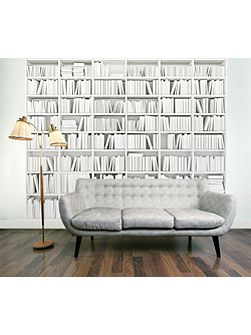 Library Bookcase Wall Mural