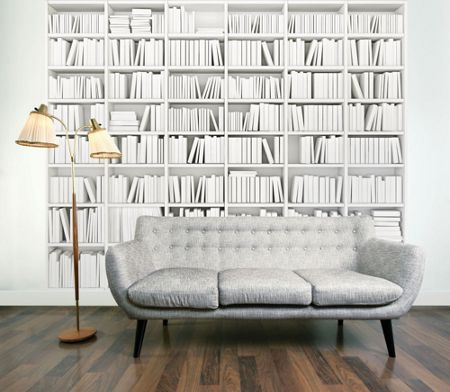 Graham & Brown Library Bookcase Wall Mural