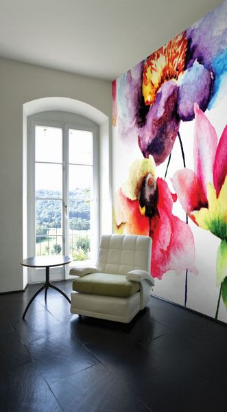 Graham & Brown Summer Watercolour Flora Wall Mural