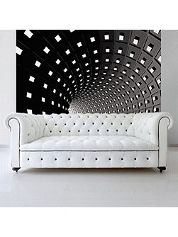 Abstract Modern Infinity Tunnel Wall Mural