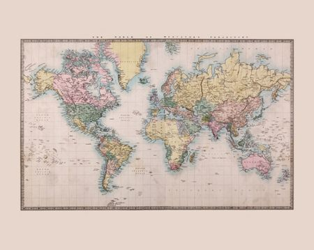 Graham & Brown Historic World Map Wall Mural