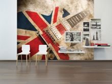 Graham & Brown Union Jack Rock Guitar Wall Mural