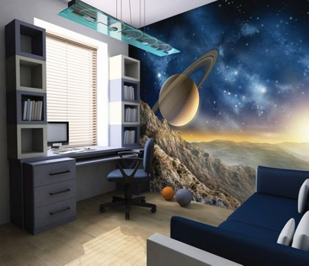 Graham & Brown Outer Space Planet Saturn Wall Mural
