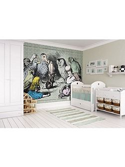 Alice in Wonderland Animals Meeting Wall Mural