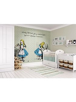 Alice in Wonderland Quote Wall Mural