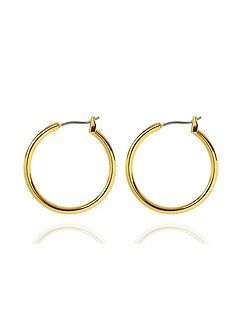 Classic Gold Tone Hoop Earrings