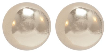 Anne Klein Gold Tone Ball Stud Earrings