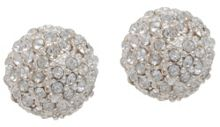 Anne Klein Silver Fireball Stud Earrings