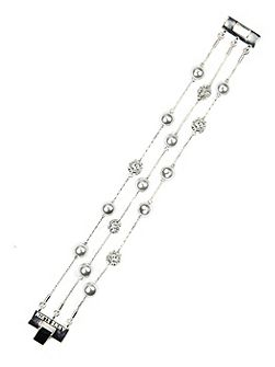 Silver Tone Crystal Fireball Necklace
