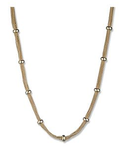 Gold Tone Classic Mesh Necklace
