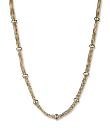 Anne Klein Gold Tone Classic Mesh Necklace