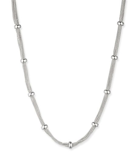 Anne Klein Silver Tone Classic Mesh Necklace