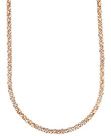 Anne Klein Long Gold Crystal Tubular Necklace