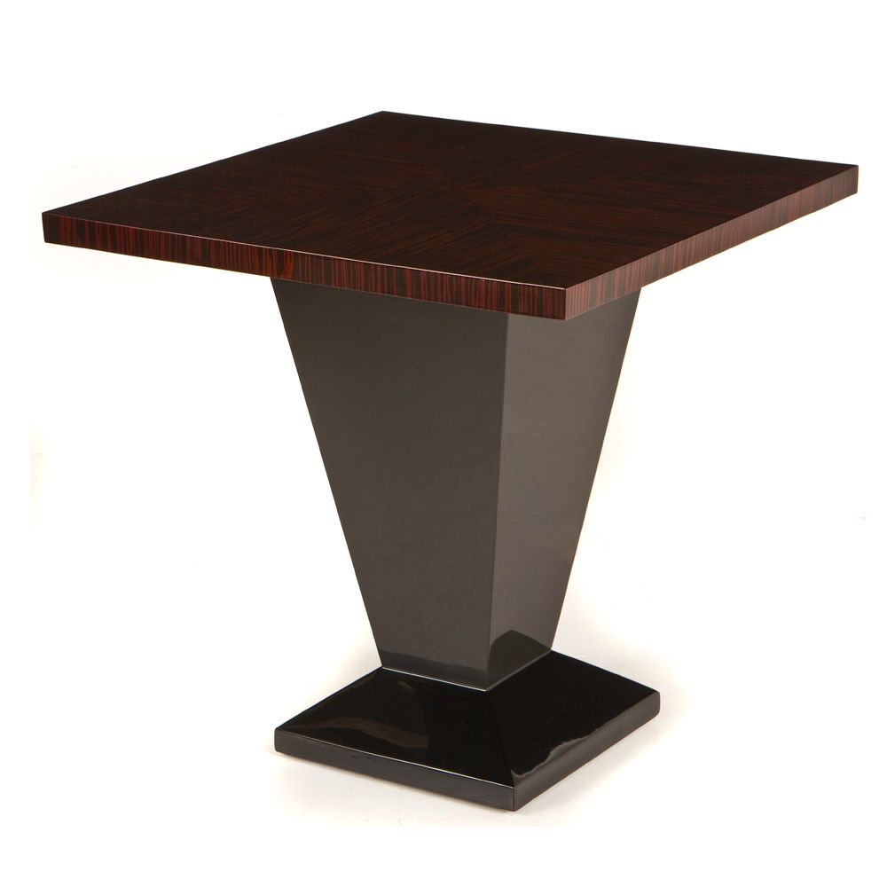 Ebony macassar deco lamp table