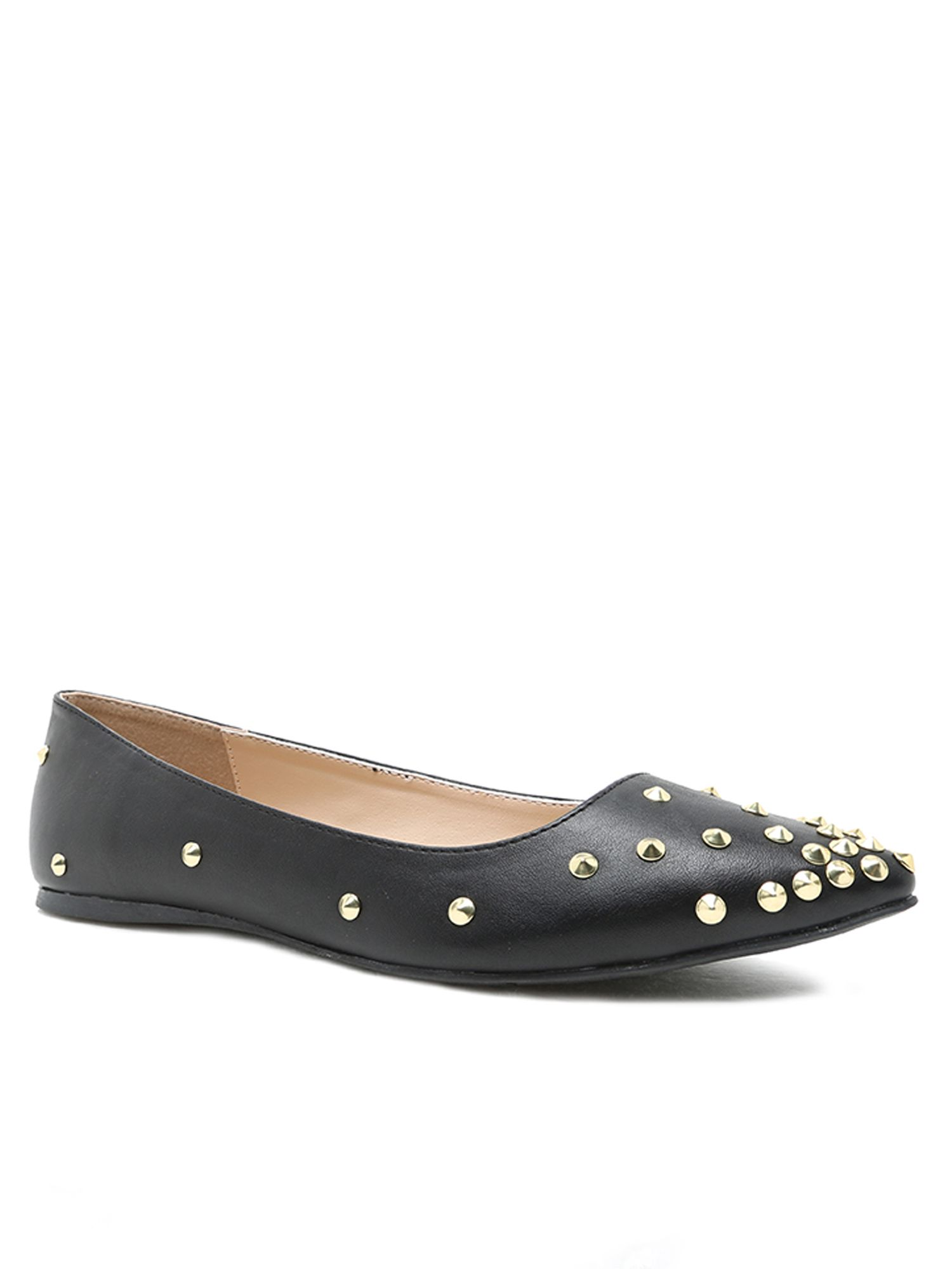 Qupid Pointer studded pump, Black