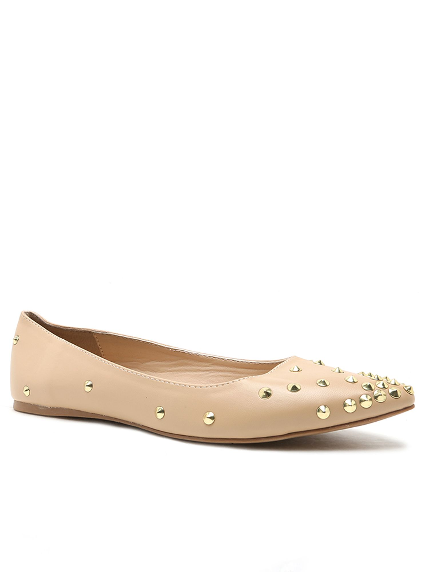 Qupid Pointer studded pump, White