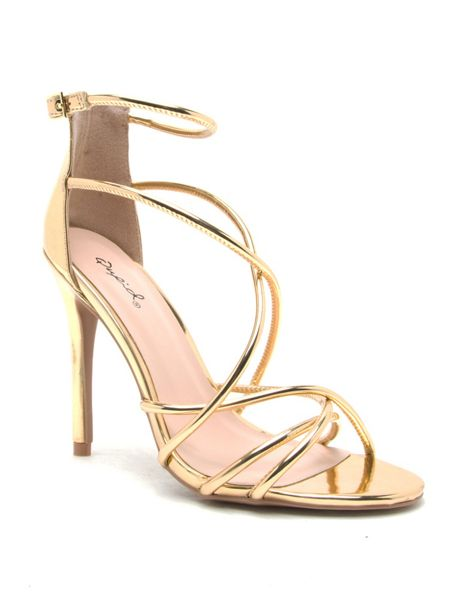 Qupid Ara cross strap sandal