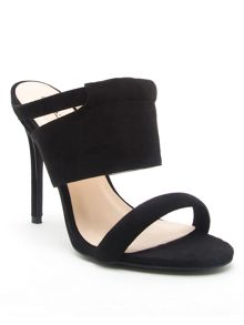 Qupid Ara strappy mule