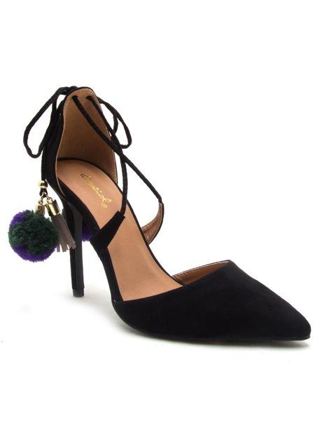 Qupid Milia tie back court shoe