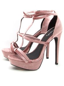 Qupid Avalon strappy platform sandal