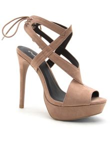 Qupid Avalon cross strap sandal