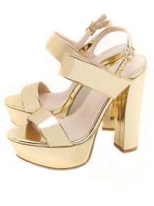 Qupid Beat platfom heel sandals
