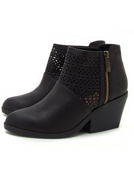 Qupid Zora cut out ankle boot