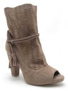 Qupid Bailey peep toe cut out boot