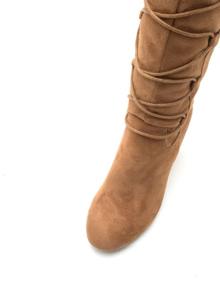Qupid York lace up knee boot