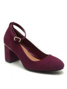 Qupid Melba block heel court shoe
