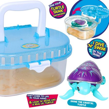 Little Live Pets Tank with Crystal Turtle