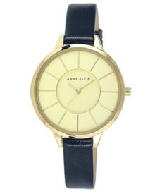 Anne Klein Anne Klein Navy Leather Watch