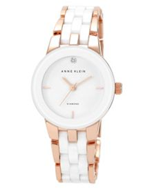Anne Klein Anne Klein White, Diamond Ceramic Watch