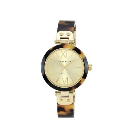 Anne Klein Anne Klein Brown & Gold Bangle Watch