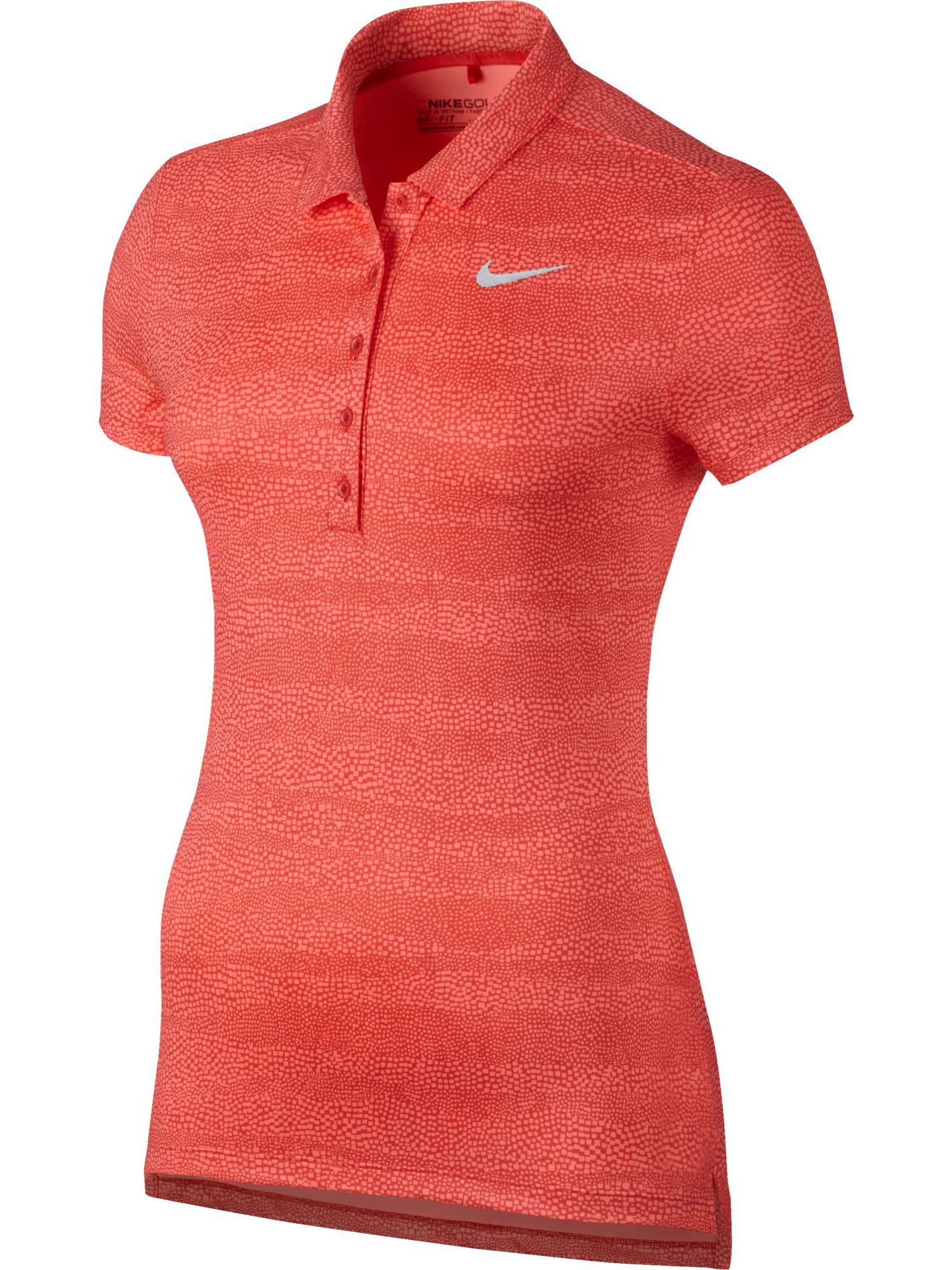 Nike Golf Precision Zebra Print Golf Polo, Orange
