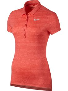 Nike Golf Precision Zebra Print Golf Polo
