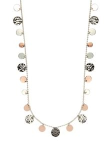 Nine West Tri Tone Strandage Long Necklace