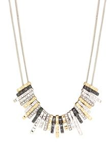 Tri Tone Frontal Necklace