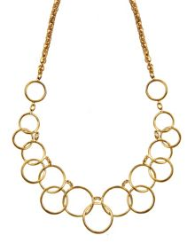 Nine West Multi Circle Gold Necklace