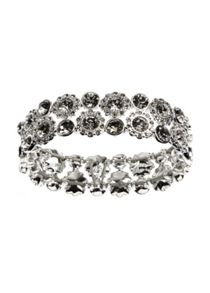 Nine West Drama Silver Crystal Bracelet