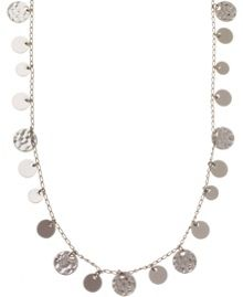 Nine West Circle Drop Long Necklace