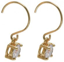 Anne Klein Gold Tone Crystal Drop Earrings