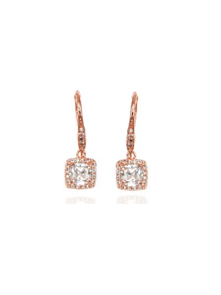 Anne Klein Pave Drop Earrings