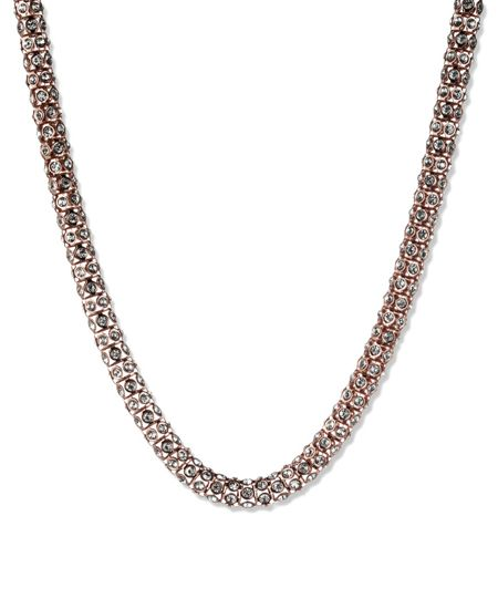Anne Klein Anne Klein Rose Gold Pave Necklace