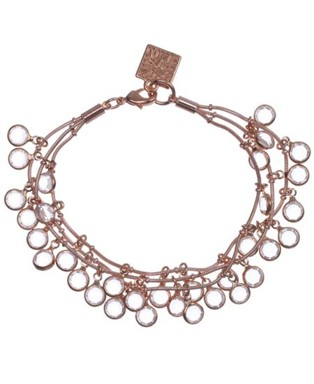 Anne Klein Anne Klein Rose Gold 3 Row Bracelet